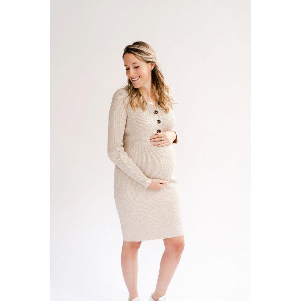 Rose Maternité Robe Claire - Avoine