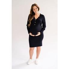 Rose Maternité Robe Claire - Marine