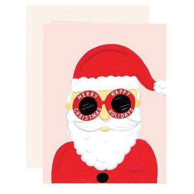 Paige & Willow Carte - Père Noël à lunettes