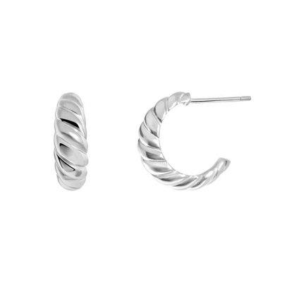 Twenty Compass Boucles d'oreilles - Croissant Argent Sterling