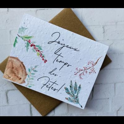 Kit de Survie Carte ensemencée Noël - Joyeux temps des Fêtes