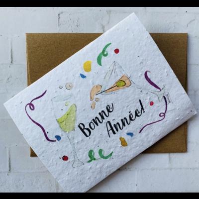 Kit de Survie Carte ensemencée Noël - Bonne Année!