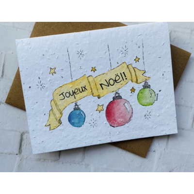Kit de Survie Carte ensemencée Noël - Joyeux Noël!