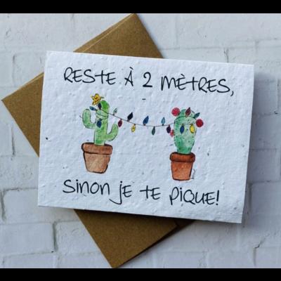 Kit de Survie Carte ensemencée Noël - Reste à 2 mètres