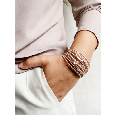 Caracol Bracelet mutli-rang - Beige