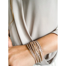 Caracol Bracelet mutli-rang - Nude