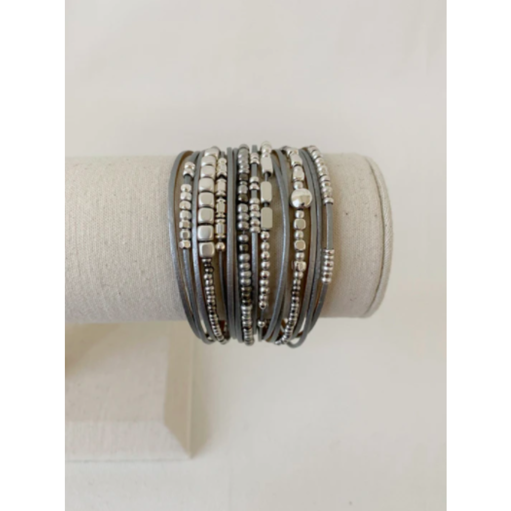 Caracol Bracelet mutli-rang - Gris
