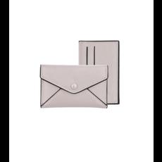 Caracol Étui avec porte cartes amovible gris pâle