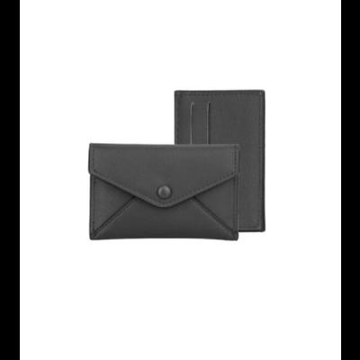 Caracol Étui avec porte cartes amovible noir