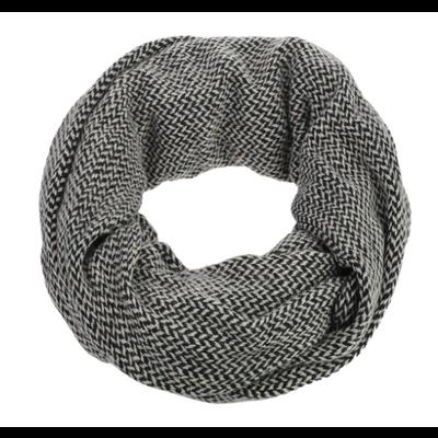 Caracol Grand foulard tube Chevron noir et blanc