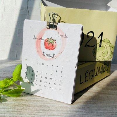 Kit de Survie Calendrier Plantable Légumes - Sans support en bois