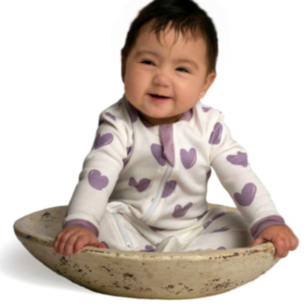 ZippyJamz Pyjama - Cœurs violets