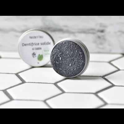 Poussière d'Étoile Dentifrice Solide au charbon - Menthe fraîche & Citron
