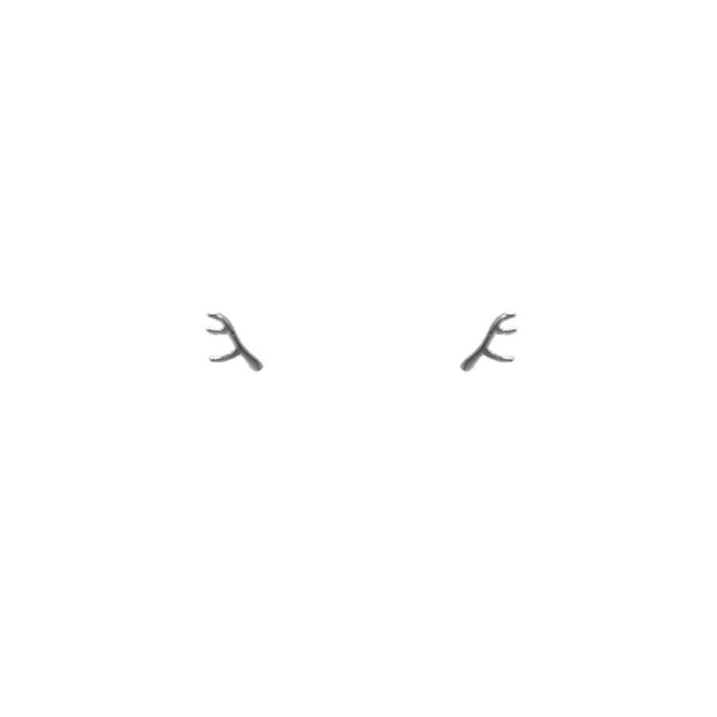 Lost & Faune Boucles d'oreilles - Mini branches argents