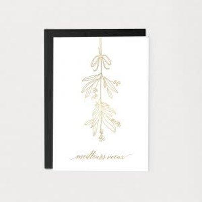 Mimosa design Carte de Noël - Meilleurs voeux