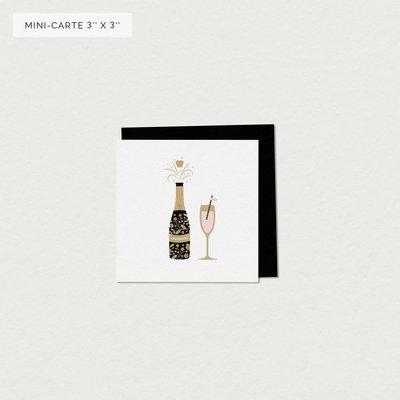 Mimosa Design Mini carte - Champagne