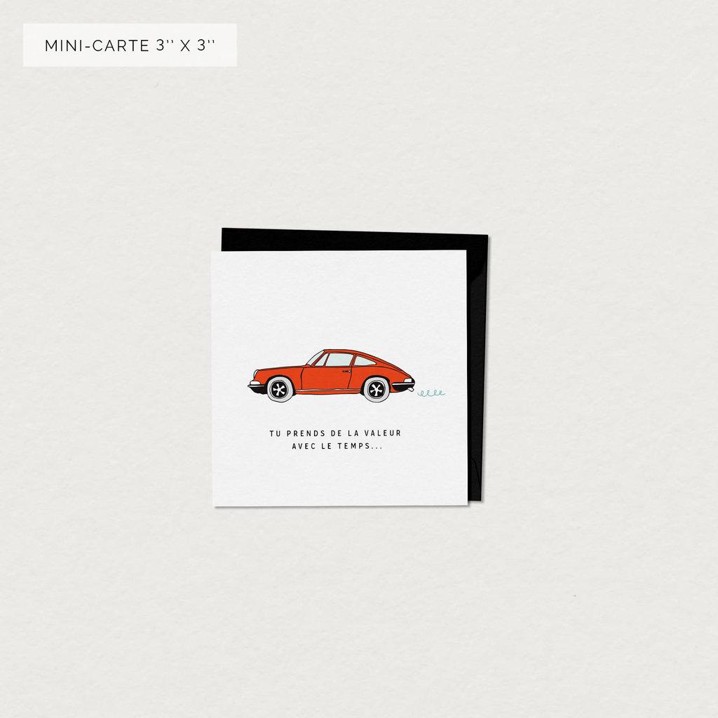 Mimosa Design Mini Carte de Souhaits - Porsche