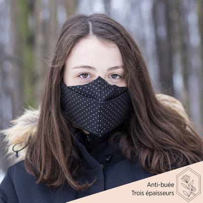 Maskalulu Masque anti-buée trois épaisseurs - Le Divin