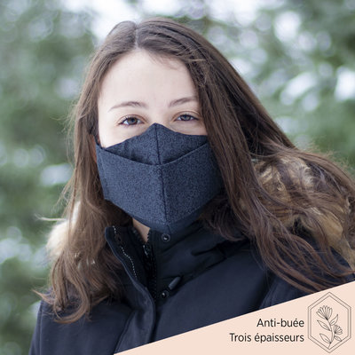 Maskalulu Masque anti-buée trois épaisseurs - Le classique