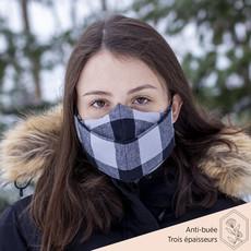 Maskalulu Masque anti-buée trois épaisseurs - Le bûcheron gris