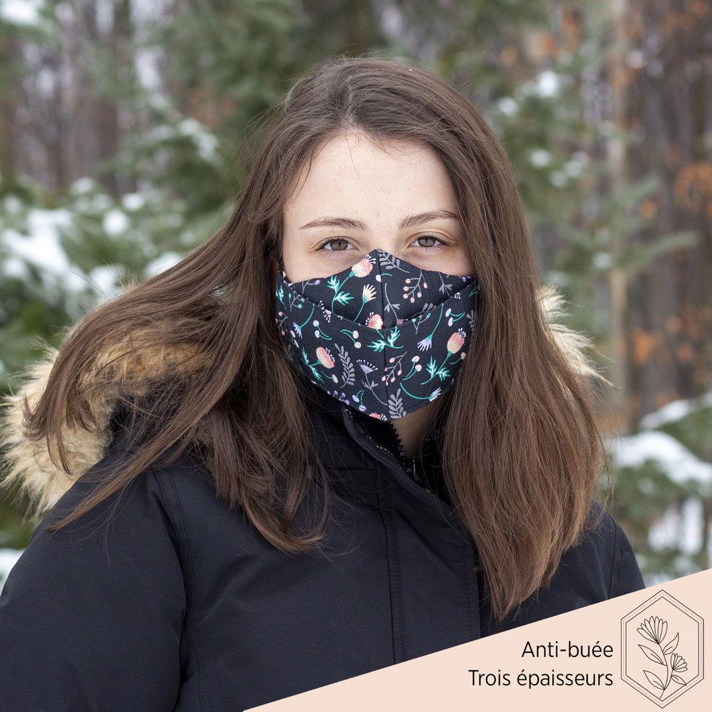 Maskalulu Masque anti-buée trois épaisseurs - Bouquet de réception