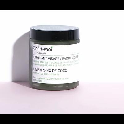 Chéri-Moi Exfoliant visage - Lime & Noix coco
