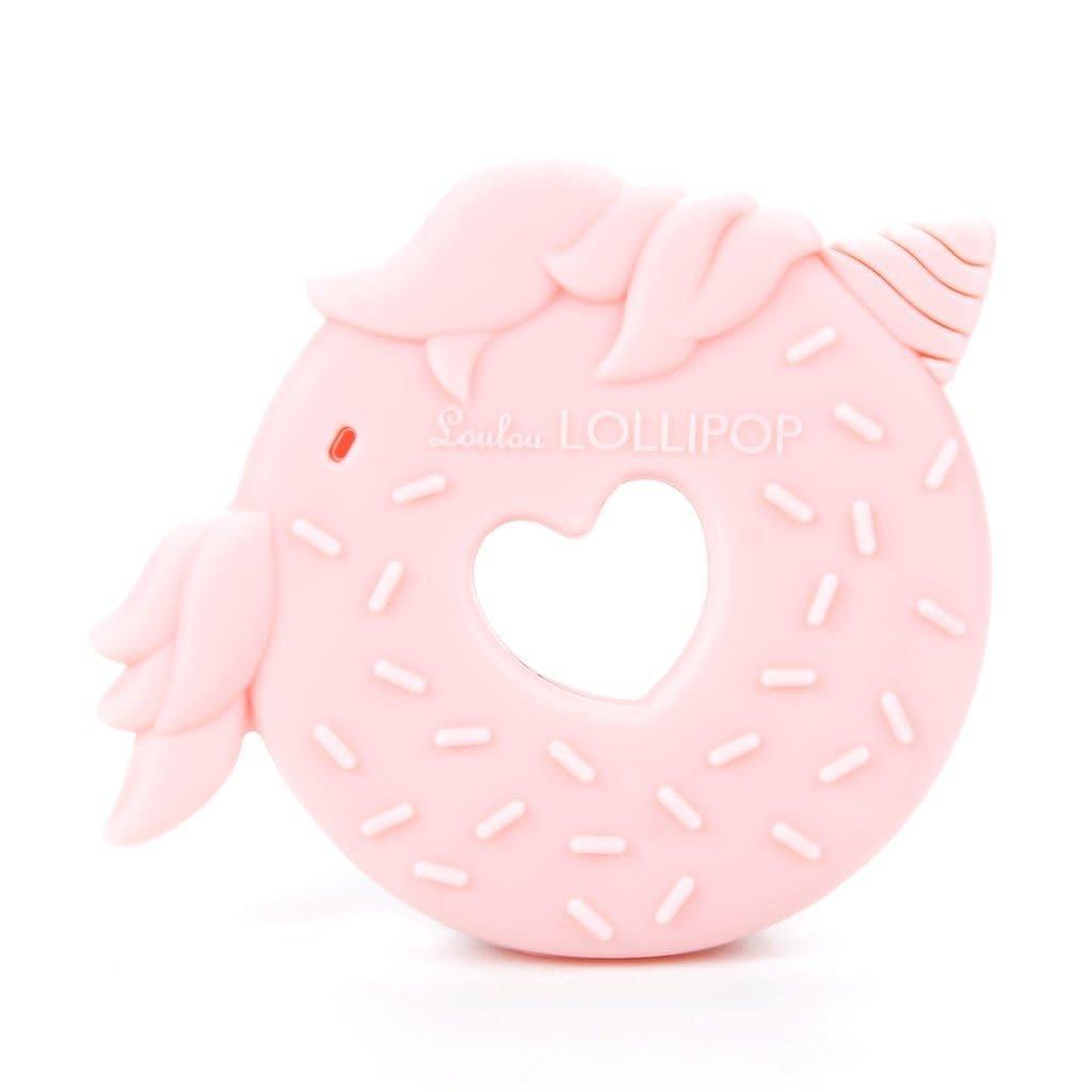 Loulou Lollipop Jouet de dentition en silicone - Licorne rose donut