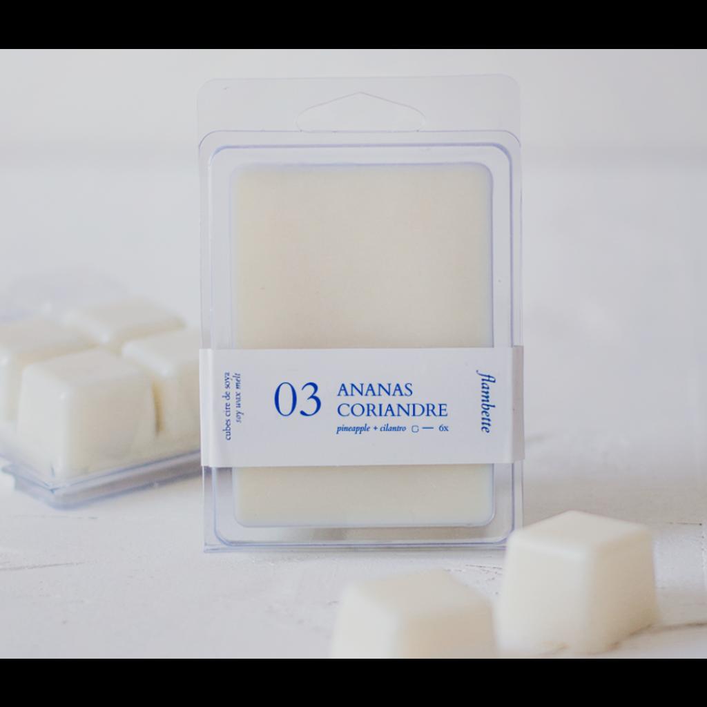 Flambette Cubes de cire 03 - Ananas & coriandre