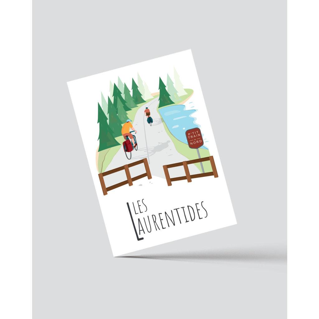 M.O. Graphiste Carte postale - Les Laurentides