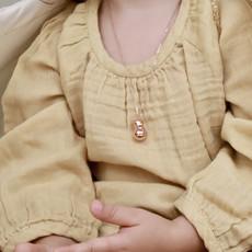 Ilado Mini Bola enfant - Collier Lapin or jaune