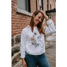 Holive Crewneck - Femme fleurs blanc