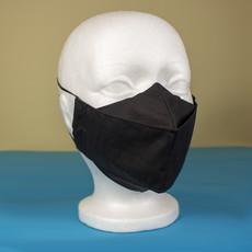 Maskalulu Masque anti-buée trois épaisseurs - Noir obscur