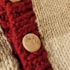 Madame Tricot Chandail en tricot pour enfant - Rouge Jaune Beige
