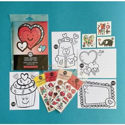 Picotatoo Ensemble de Saint-Valentin - Tatouages et coloriages
