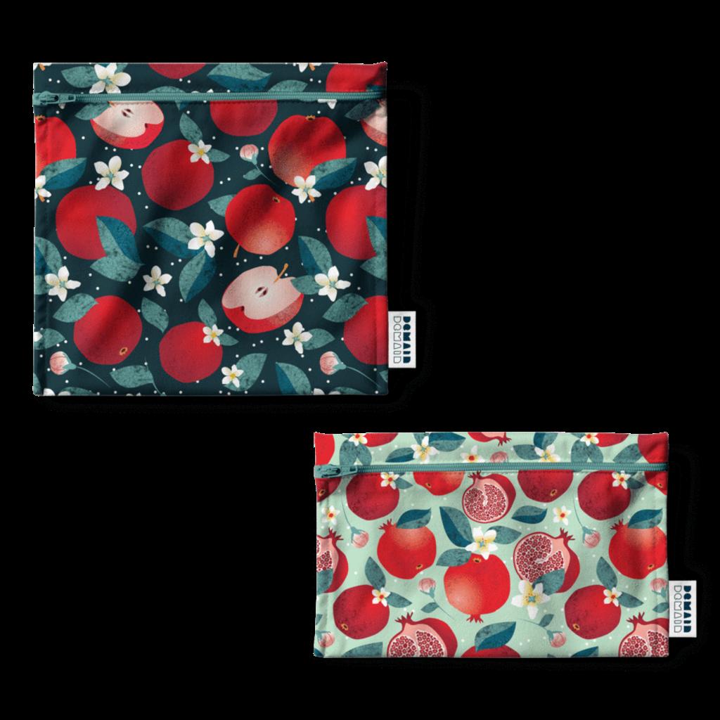 DemainDemain Duo de sacs réutilisables - Pomme grenade