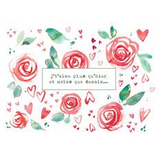 Stéphanie Renière Carte - J't'aime plus qu'hier et moins que demain