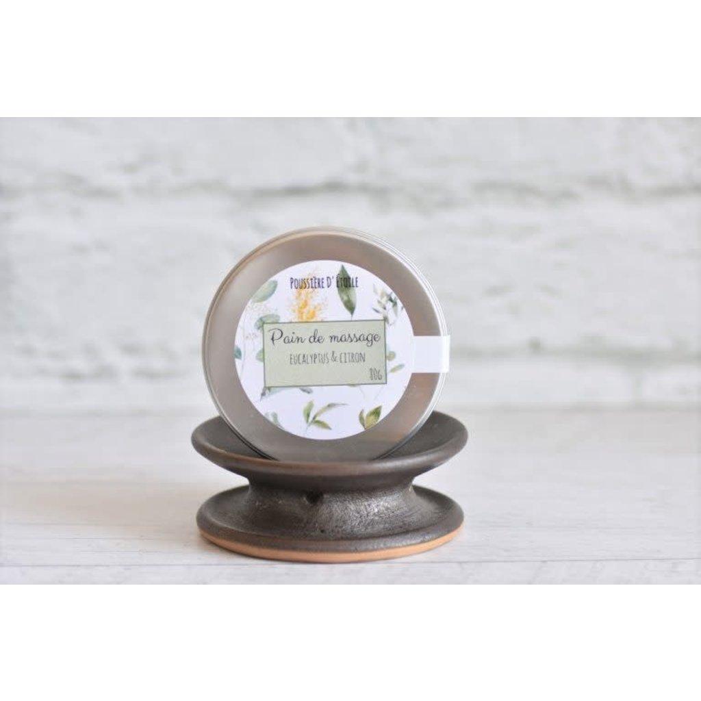Poussière d'Étoile Pain de massage - Eucalyptus & citron