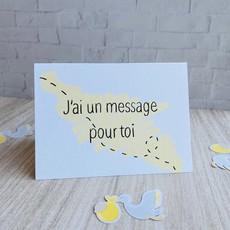 Kit de Survie Carte + Autocollant - J'ai un message pour toi