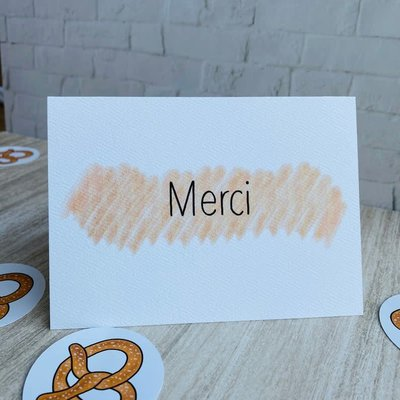 Kit de Survie Carte + Autocollant - Merci