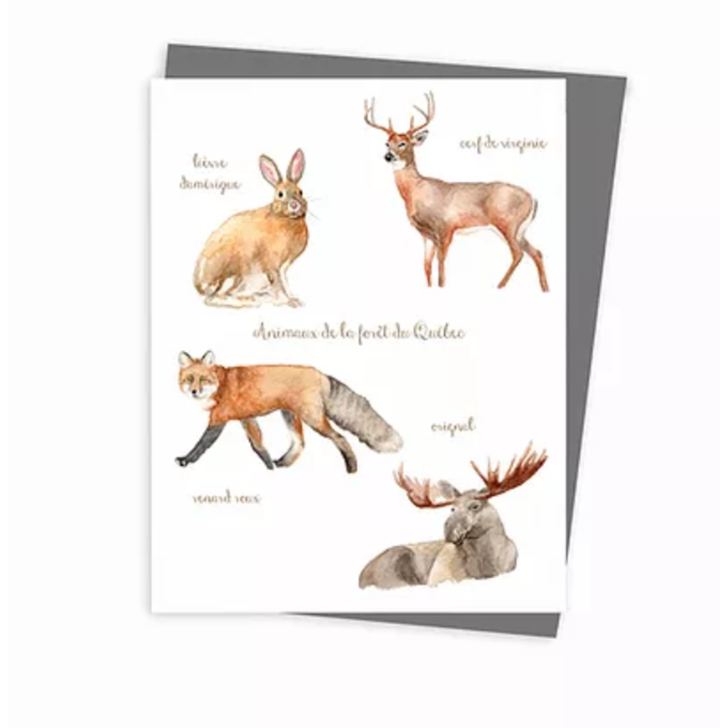 Hobeika Art Carte - Animaux de la forêt du Québec