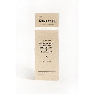 Les Minettes Craquelins - Abricot, noisettes & romarin