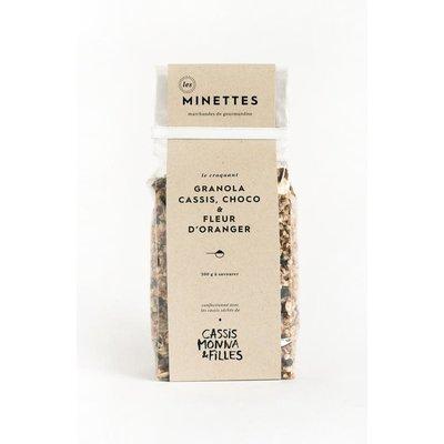 Les Minettes Granola cassis, chocolat & fleur d'oranger
