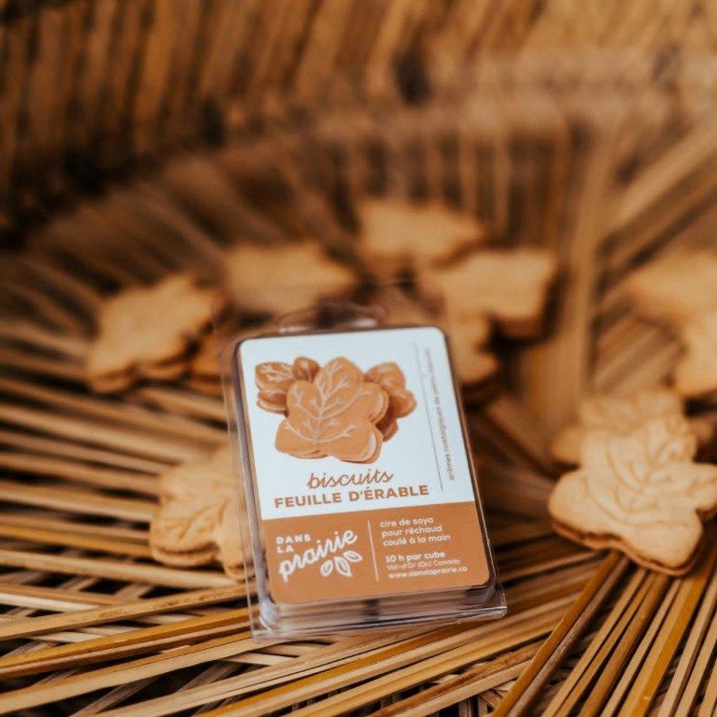 Dans la prairie Cire de soya pour réchaud - Biscuits feuille d'érable