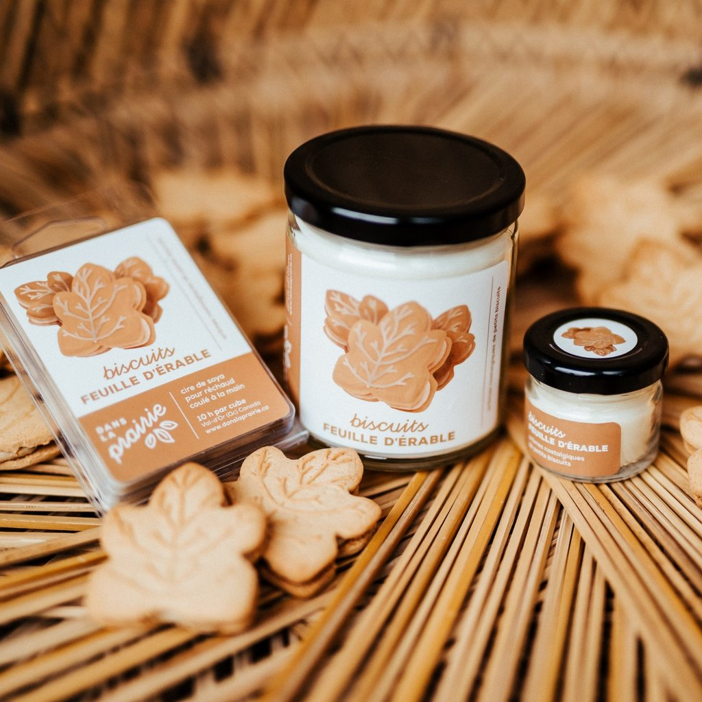 Dans la prairie Mini chandelle - Biscuits feuille d'érable