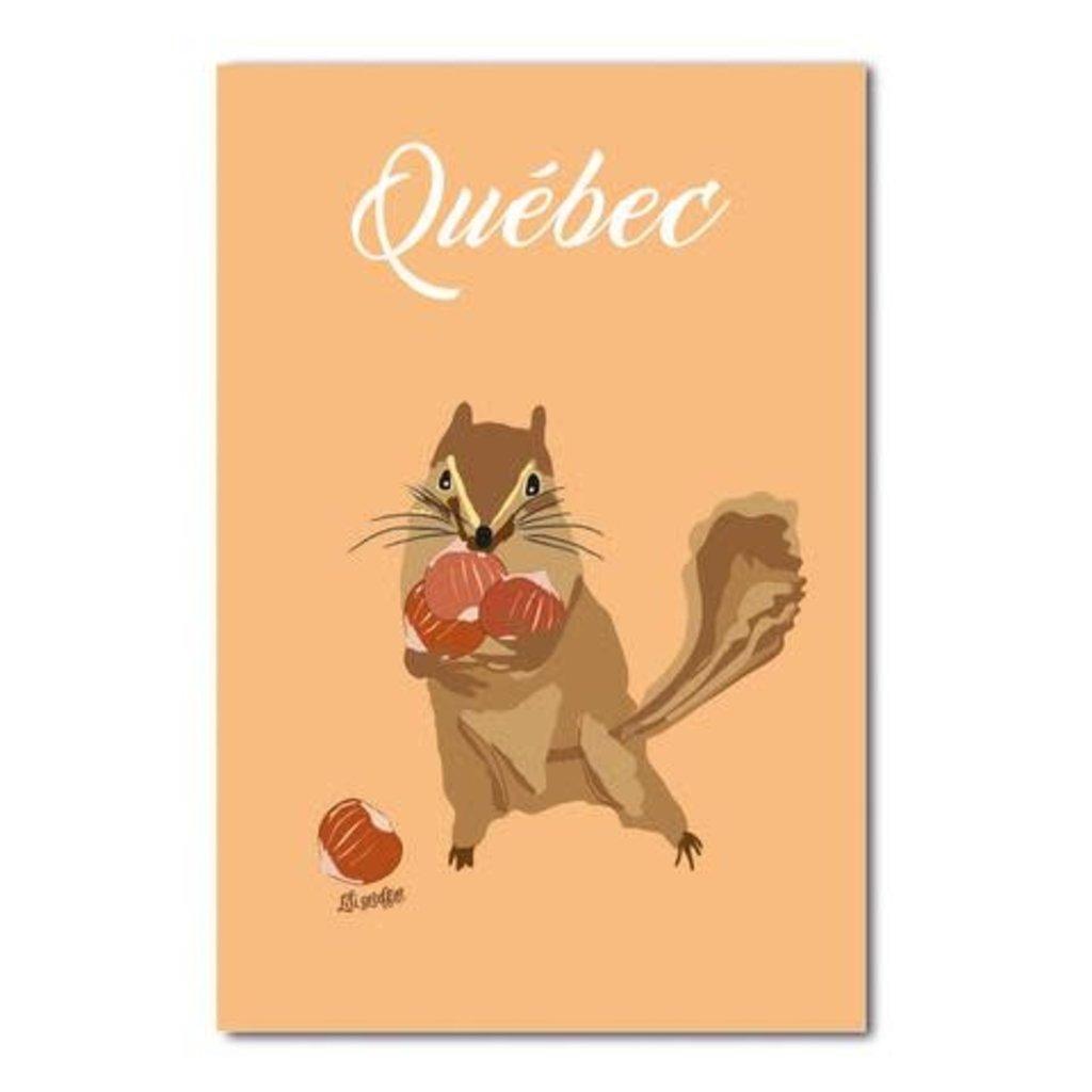 Lili Graffiti Carte postale - Écureuil - Québec