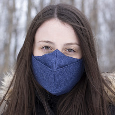Maskalulu Masque anti-buée trois épaisseurs - Éclat de bleu
