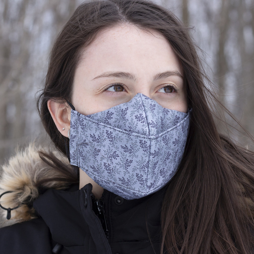 Maskalulu Masque anti-buée trois épaisseurs - Lavande