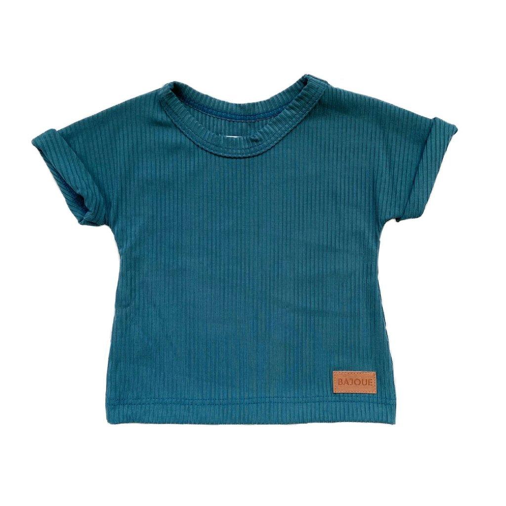 Bajoue T-shirt en bambou unisexe Azur