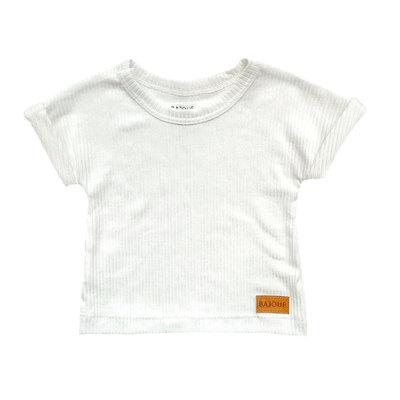 Bajoue T-shirt en bambou unisexe Crème