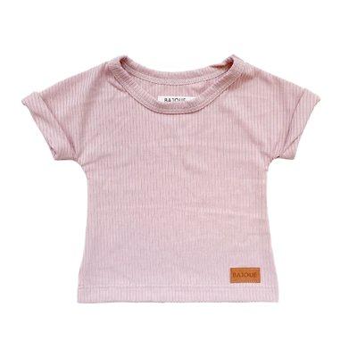 Bajoue T-shirt en bambou unisexe Lilas